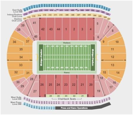spartan stadium seating chart